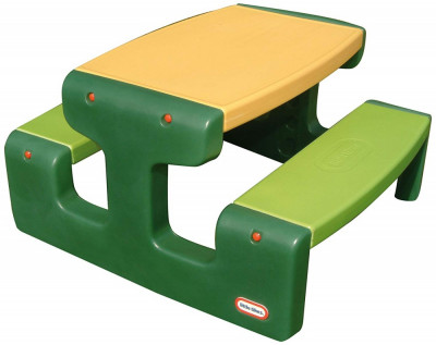Masa de picnic Little Tikes pentru 6 copii verde foto