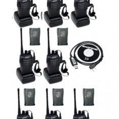 Set 8 buc Baofeng BF 888S cu 16 acumulatori 1500 mAh + Bonus Cablu+CD programare