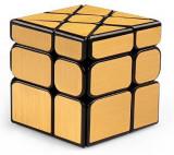 Cub Rubik 3x3x3 MoYu Wind Mirror Cube Auriu 56.5*56.5*56.5 mm