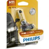 Bec auto cu halogen pentru proiector Philips H11 Vision, +30%, 12V, 55W, 1 Buc