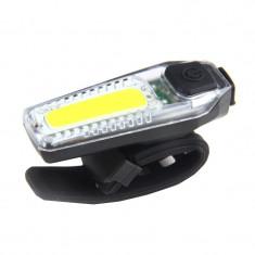 Semnalizare LED pentru bicicleta ZH1608, USB, 120 lm, COB, 300 mah, Oem