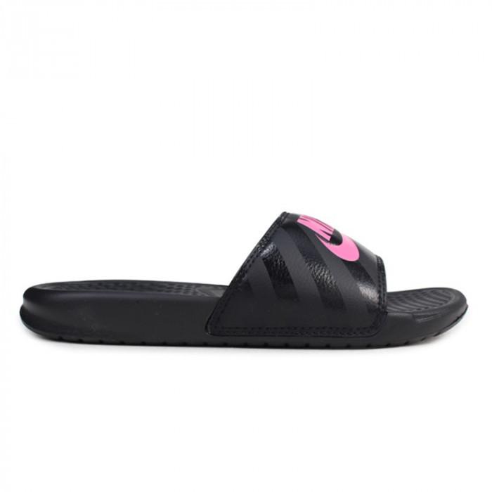 Slapi Nike Benassi Jdi Black Pink - Slapi originali - Papuci Plaja - 343881-061