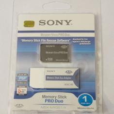 Card memorie Sony Memory Stick Pro Duo 1 Gb Magic gate + adaptor - sigilat, Compact Flash