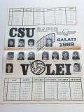 Calendar 1989 - volei - CSU RAPID GALATI