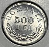 500 Lei 1946 Al, Romania, UNC, Surplus material sub ochi, Luciu de batere