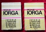 Nicolae Iorga Istoria literaturii romane in secolul al XVIII-lea 2 volume 1969