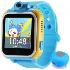 Ceas GPS Copii, iUni Kid730, 3G, DIGI Mobil, Touchscreen, GPS, LBS, Wi-Fi, Camera, buton SOS, Blue + Boxa Cadou