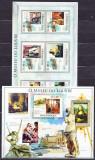 DB Picturi Mozambic Muzeele Lumii Paris Luvru MS + SS MNH