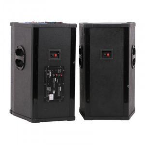 Boxe active Vlliodor 2005, 2 x 400 W, 4 Ohm, conectivitate Bluetooth, USB