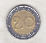 bnk mnd Algeria 20 dinari 2007 , bimetal , fauna