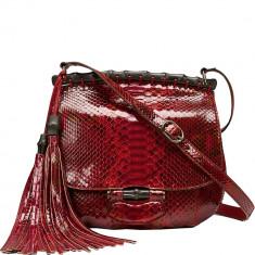 Nouveau Red Python Shoulder Bag, Gucci