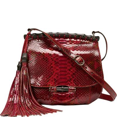 Nouveau Red Python Shoulder Bag foto