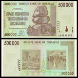 = ZIMBABWE - 500 000 DOLLARS - 2008 - UNC  =