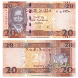 = SOUTH SUDAN - 20 POUND - 2017 - UNC    =
