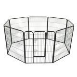 PawHut Gard Modular pentru Animale Câini Pisici Pui Rozătoare 8 Bucăți 80x100cm