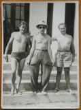 Foto , Gheorghe Dinu ( Stephan Roll ) si Jean David pe Dunare , interbelica , 1