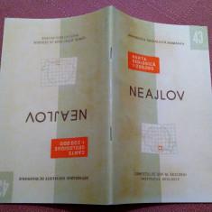 Neajlov. Nota explicativa  Institutul Geologic, 1967 - Nu contine harta