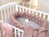 Protectie laterala patut bebe bumper impletit Sweater Rose 210 cm