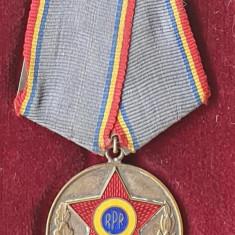 Medalia 1943-1953 Aniversare fortele armate ale RPR, decoratie la cutie