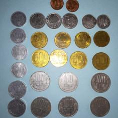 "Monede Romania anii 1990-2004( despre ele se pot citi la ""specificatii"" produs)"