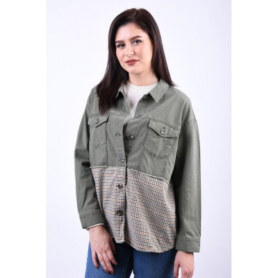 Jacheta Denim Only Gilla Mixed Martini Olive foto