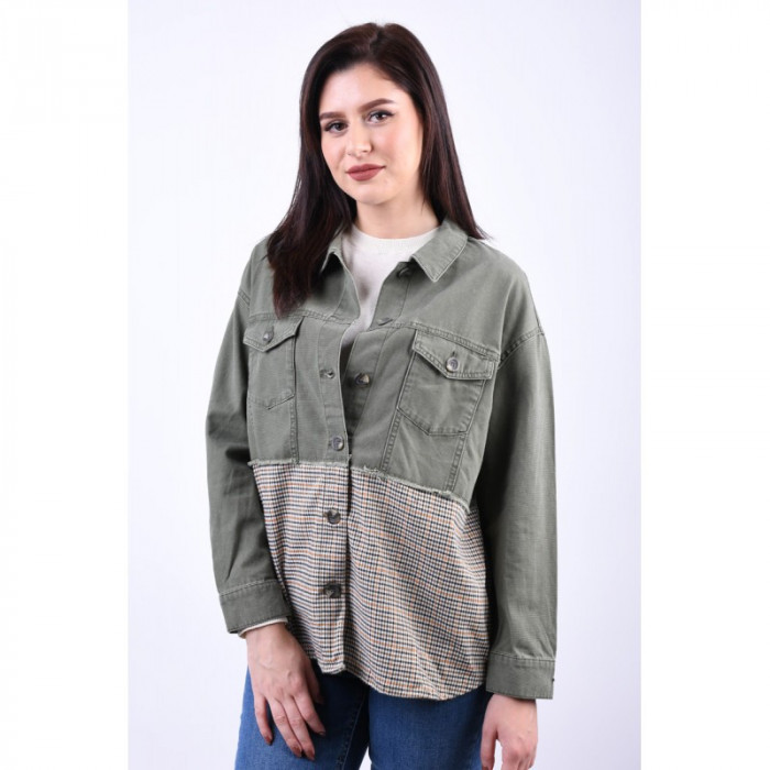 Jacheta Denim Only Gilla Mixed Martini Olive