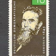 D.D.R.1965 120 ani nastere W.Rontgen-fizician PREMIUL NOBEL  MD.214