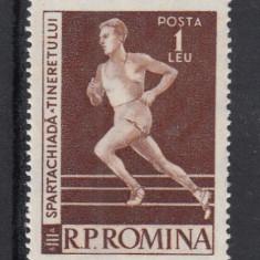 ROMANIA 1958/59 LP 466   SPARTACHIADA  TINERETULUI  MNH