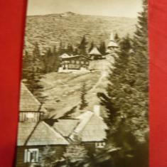 Ilustrata Caransebes- Cabane pe Muntele Mic , circulat 1963