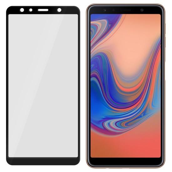 Folie Sticla MyScreen L!ite pentru Samsung Galaxy A7 2018 Acopera tot ecranul Full Glue 9H 033 mm Negru