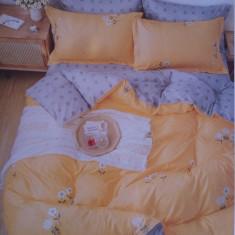 Lenjerii de pat pentru 2 persoane ,,Anna'',  6 PIESE , finet gros 100%