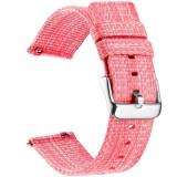 Curea material textil, compatibila cu Huawei Watch GT, Telescoape QR, 22mm, Flamingo Pink