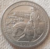 25 cents / quarter 2016 SUA, North Dakota, Theodore Roosevelt, litera d, America de Nord