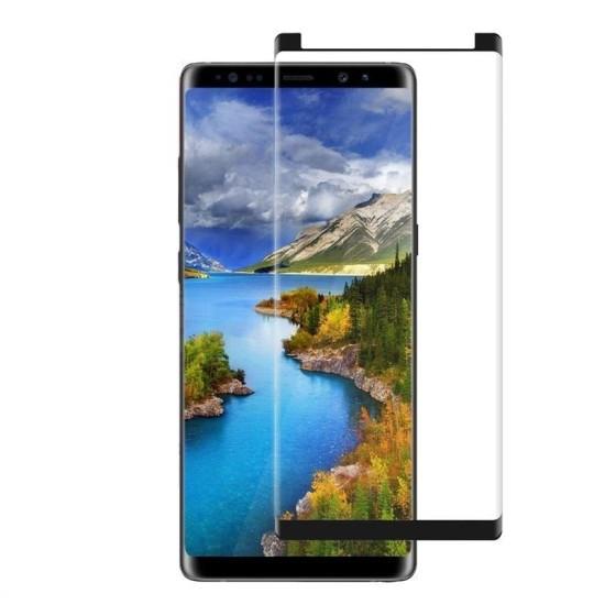 Folie Sticla Zizo Full Edge to Edge AntiScratch pentru Samsung Galaxy Note 9 3D Case Friendly Negru