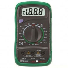 Multimetru digital, 9 functii, baterie 9V, carcasa protectie, Home