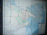 Harta mare a Judetului TULCEA ,dim.=155x129cm RSR 1980 Inst. Geodezie si Organiz