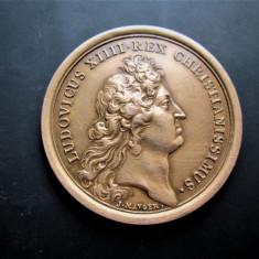 Medalie veche Franta 1670: Ludovic XIV Restabilirea Marinei (rebatere)