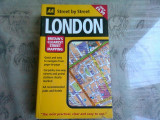 LONDON. BRITAIN'S CLEAREST STREET MAPPING (TEXT IN LIMBA ENGLEZA)