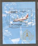 Nicaragua 1986 Aeroplanes perf. sheet Mi.B168 used TA.088