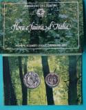 Set monede argint 500 Lire + 200 Lire Italia 1991 - FDC, Europa