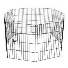 Grilaj 6-hexagonal pentru cățeluși 65 x 50 cm, negru