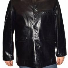 Cojoc barbati, din piele naturala, marca Kurban, 221-01-95, negru