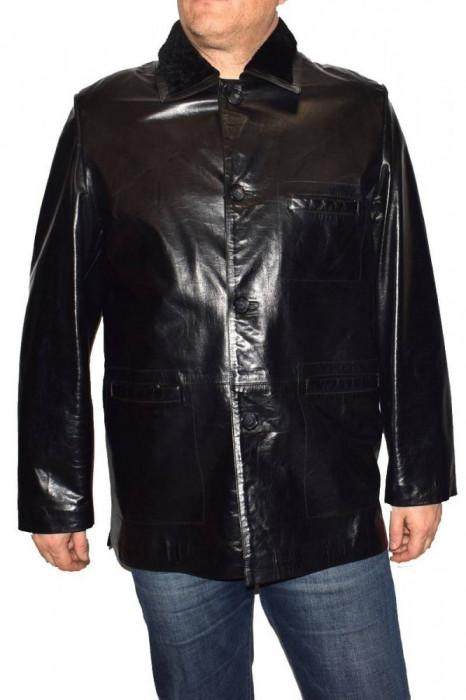 Cojoc barbati, din piele naturala, Kurban, 221-01-95, negru