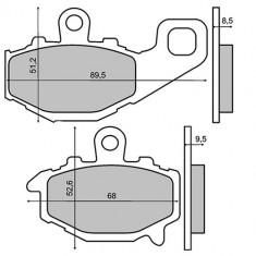 Placute frana Kawasaki ZRX 400 '94-'01/Z750 '04-'05 Cod Produs: MX_NEW 225101220RM