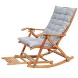 Fotoliu balansoar din lemn cu spatar ajutabil in 5 trepte +perna+masaj