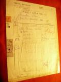 Factura cu Antet Firma Otelul Boehler -1942 cu 4 timbre fiscale , Bucuresti