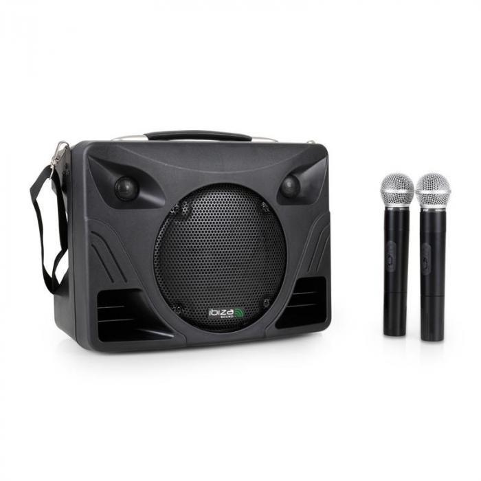 Ibiza Sistem Audio Portabil Port85 VHF USB/SD și 2Microfoane