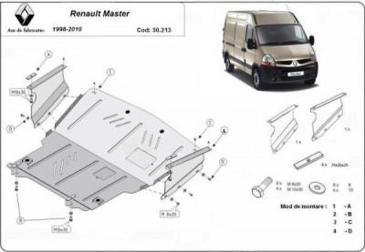 Scut motor metalic Renault Master 1998-2010 foto