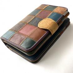 Portofel piele naturala multicolor 8302