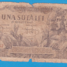 (18) BANCNOTA ROMANIA - 100 LEI 1947 (27 AUGUST 1947)